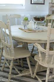 Distressed Dining Room Table Set Tables Wood