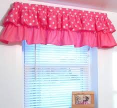Pink Ruffled Window Curtains by Girls Window Valance U2013 Intuitiveconsultant Me