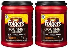 Fresh Taste Of Folgers Coffee Gourmet Supreme Ground Dark Flavor 103 Oz Canister