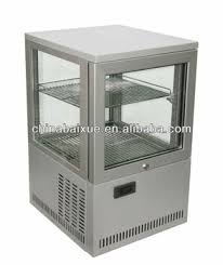 Counter Top Four Sided Glass Show Case Coolers Display Fridgedessertsandwich