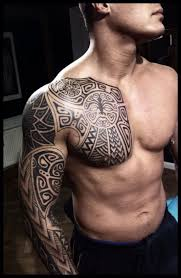 Scandinavian Tattoos On Sleeve And Chest By Peter Walrus Madsen