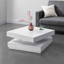 en casa couchtisch florenz beistelltisch drehbar 76x76x38cm weiß