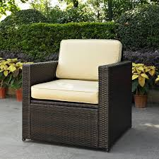 Mercury Row Belton Outdoor Wicker Deep Seating Chair with Cushion
