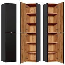 badezimmer hochschrank toskana black 56 in seidenmatt anthrazit b h t ca 35 170 33cm