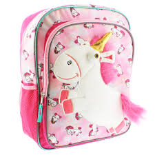 Despicable Me Fluffy Unicorn 16 Inch Backpack