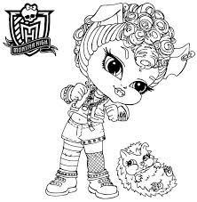 Free Coloring Pages Of Baby Monster High Girls