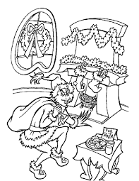 The Grinch Coloring Pages Free Printable For Kids Line Drawings