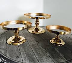 Glamorous Gold Mirror Cake Stand 20cm