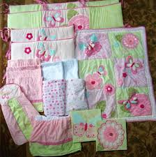 Kidsline Crib Bedding by Euc Kids Line Bella 17pc Crib Bedding Set Pink Butterfly Flowers