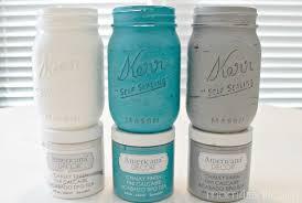 Chalky Painted Mason Jars Mom 4 Real