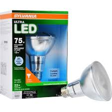 sylvania led light bulb 75w equivalent par30 glass flood
