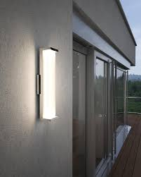 wb1864pst led 24 indoor outdoor wall sconce polished