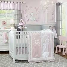 Lambs & Ivy Swan Lake 5 Piece Baby Nursery Crib Bedding Set with
