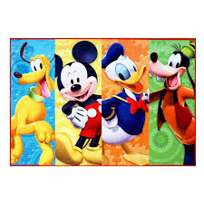 g a gertmenian sons disney mickey mouse polyester blue yellow