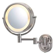 jerdon 5x halo lighted 13 in l x10 in w wall mount mirror in
