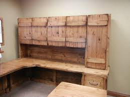 Farmhouse Style Rustic Home Office Desk All Natural Component Wooden Material Perfect Finishing Designing Room Corner