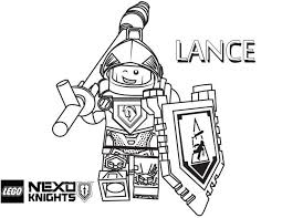 LEGO Nexo Knights Lance Coloring Page