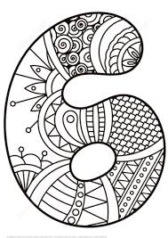 Click To See Printable Version Of Number 6 Zentangle Coloring Page