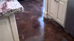 acid stained look decorative concrete overlay replaces ceramic