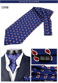 100 natural silk men u0027s elegant double faced cravat scarf with