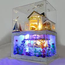 Miniature Villa House Dollhouse Potted Flower Plant Craft DIY