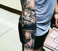 Forearm Nature Tattoos For Men