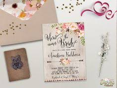 Floral Bridal Shower Invitation Printable Boho Invite Rustic