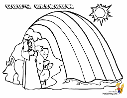 Coloring Pages Page The Great Flood Printable Noah Ark Activities