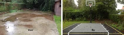 terrain de basket exterieur flex court europe construire un terrain de basket