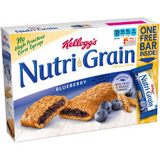 Get Quotations Kelloggs Nutri Grain Blueberry Cereal Bars 13 Oz 9 Count