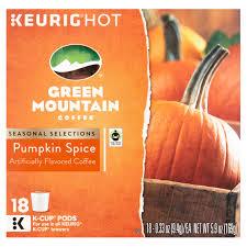 Pumpkin Spice Latte K Cups by Green Mountain Coffee Pumpkin Spice K Cup Coffee 18 Count