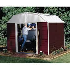 10x12 Gambrel Shed Material List by Arrow Red Barn High Gambrel Steel Shed 10x8 Walmart Com