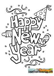 New Year Coloring Page Printable Years Pages For Regarding Color Sheets