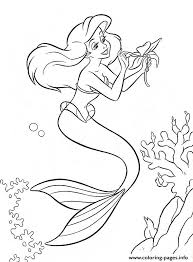 Ariel Make A Bet Little Mermaid Sa97c Coloring Pages