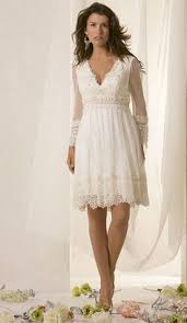 Cool Casual Wedding Dresses Simple Informal Short Long Sleeve Dress For Older Brides Over 40