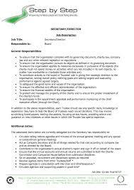 Resume Examples For Secretary Jobs Luxury Job Description Template Descriptionsamples Sample