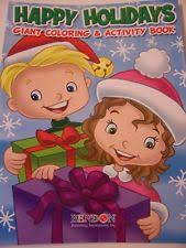Happy Holidays 160 Page Giant Coloring And Activity Book Christmas Edition