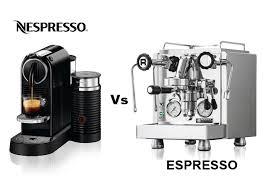 Nespresso Vs Espresso Coffee Blog