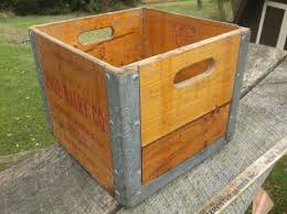 Gracious Vintage Wooden Milk Crate Page Dairy Toledo Mansfield Findlay Ohio In