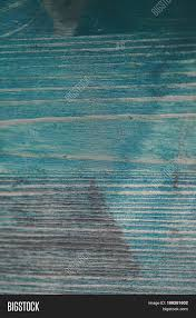 Navy Blue Wood Texture Turquoise Background Closeup View Of And