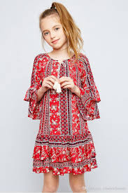 2018 2017 Junior Print Floral Dresses Teenager Fashion Ruffle Dress Big Babies Cotton Casual Childrens Summer Clothing From Cnbestwholesle