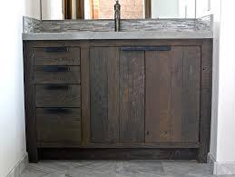 Small Double Sink Vanity Uk by Bathroom Reclaimed Wood Vanity With Storage Drawer And Door Plus