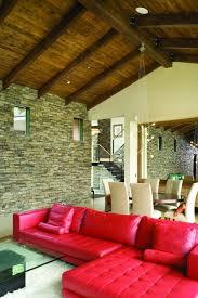 Red Living Room Interior Design Ideas 84