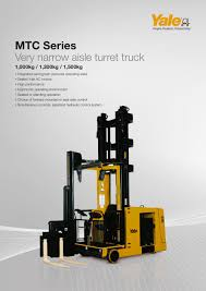 MTC10-15 - Yale - PDF Catalogue | Technical Documentation | Brochure Crown Tsp 6000 Series Vna Turret Lift Truck Youtube 2000 Lb Hyster V40xmu 40 Narrow Aisle 180176turret Trucks Gw Equipment Raymond Narrow Aisle Man Up Swing Reach Turret Truck Forklift Crowns Supports Lean Cell Manufacturing Systems Very Narrow Aisle Trucks Filejmsdf Truckasaka Seisakusho Right Rear View At Professional Materials Handling Pmh Specialists Fl854 Drexel Slt30 Warehouselift Side Turret Truck Crown China Mima Forklift Photos Pictures Madechinacom