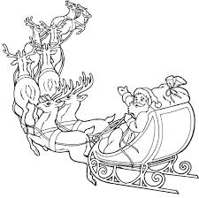 Reindeer Coloring Pages Christmas Head Free Full Size