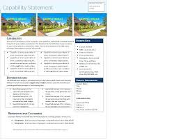 Capability Statement Template Free New Simple Study Excel