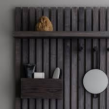 ferm living wooden multi shelf wall shelf black ash