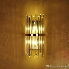 großhandel k9 kristall wandleuchte schlafzimmer wandleuchte mit schalter wohnzimmer esszimmer schlafzimmer led wandleuchte konferenzsaal hotel gold