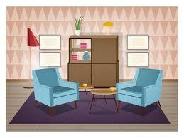 das wohnzimmer ist mit stilvollen komfortablen möbeln und