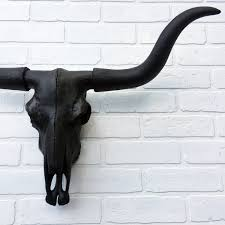 Decorated Cow Skulls Australia by Any Color Or Black Faux Longhorn Skull Wall Mount Bull Skull